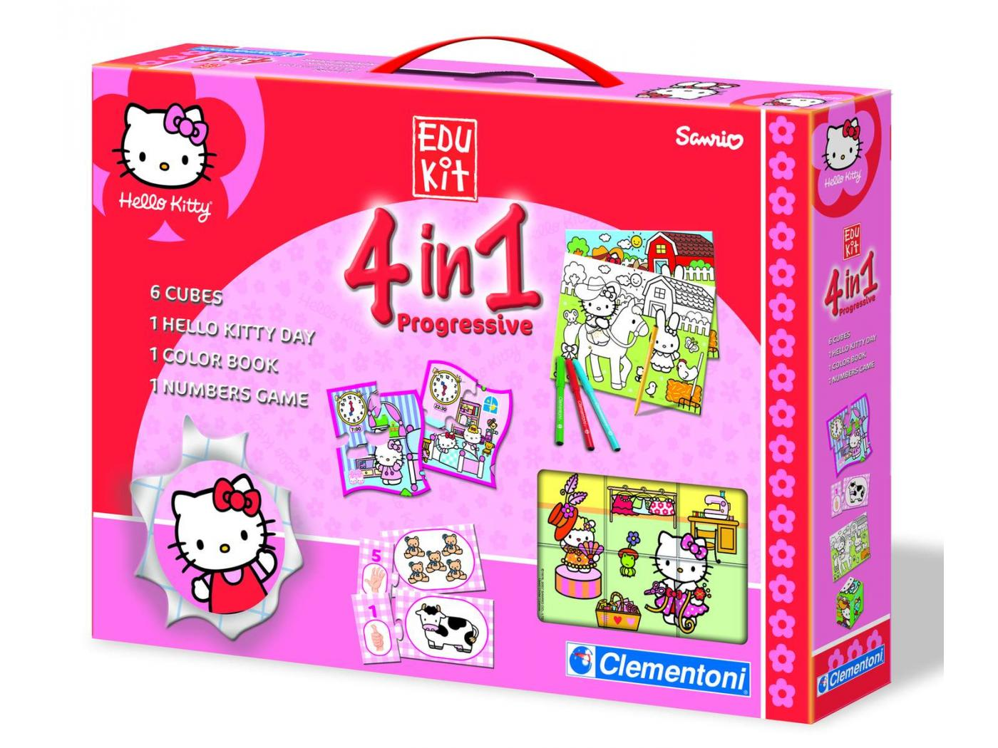 clementoni edukit 4 en 1 hello kitty a. Black Bedroom Furniture Sets. Home Design Ideas