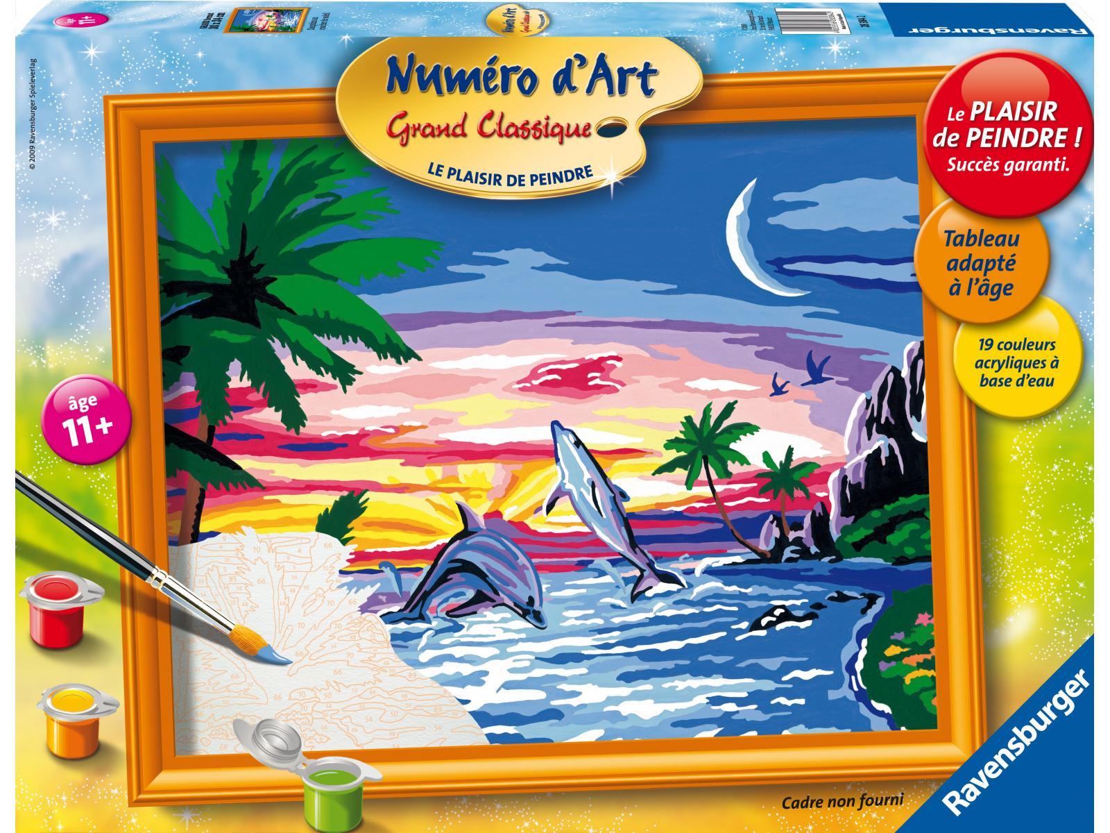 Ravensburger num ro d 39 art grand format dauphins au - Photo d art grand format ...