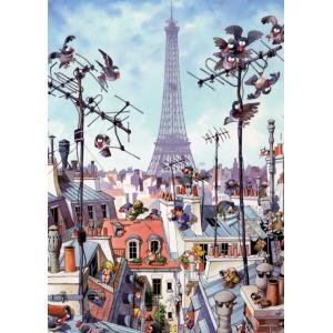 Heye - 29358 - Puzzle Mordillo Tour Eiffel 1000 pièces (94514)