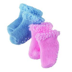 Gotz - 3200640 - Chaussettes bleu/rose pour poupées de 30-33cm, 42-46cm, 48cm (94654)