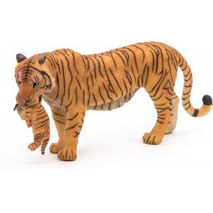 Papo - 50118 - Tigresse et son bébé - Dim. 3,5 cm x 14,5 cm x 6,5 cm (95035)