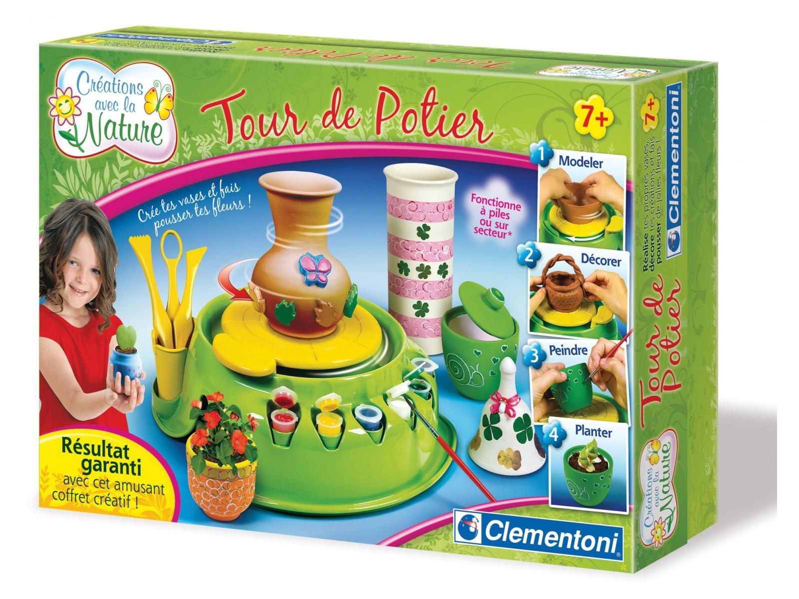 Clementoni tour de potier cr ation avec la nature - Jeu de creation de maison ...