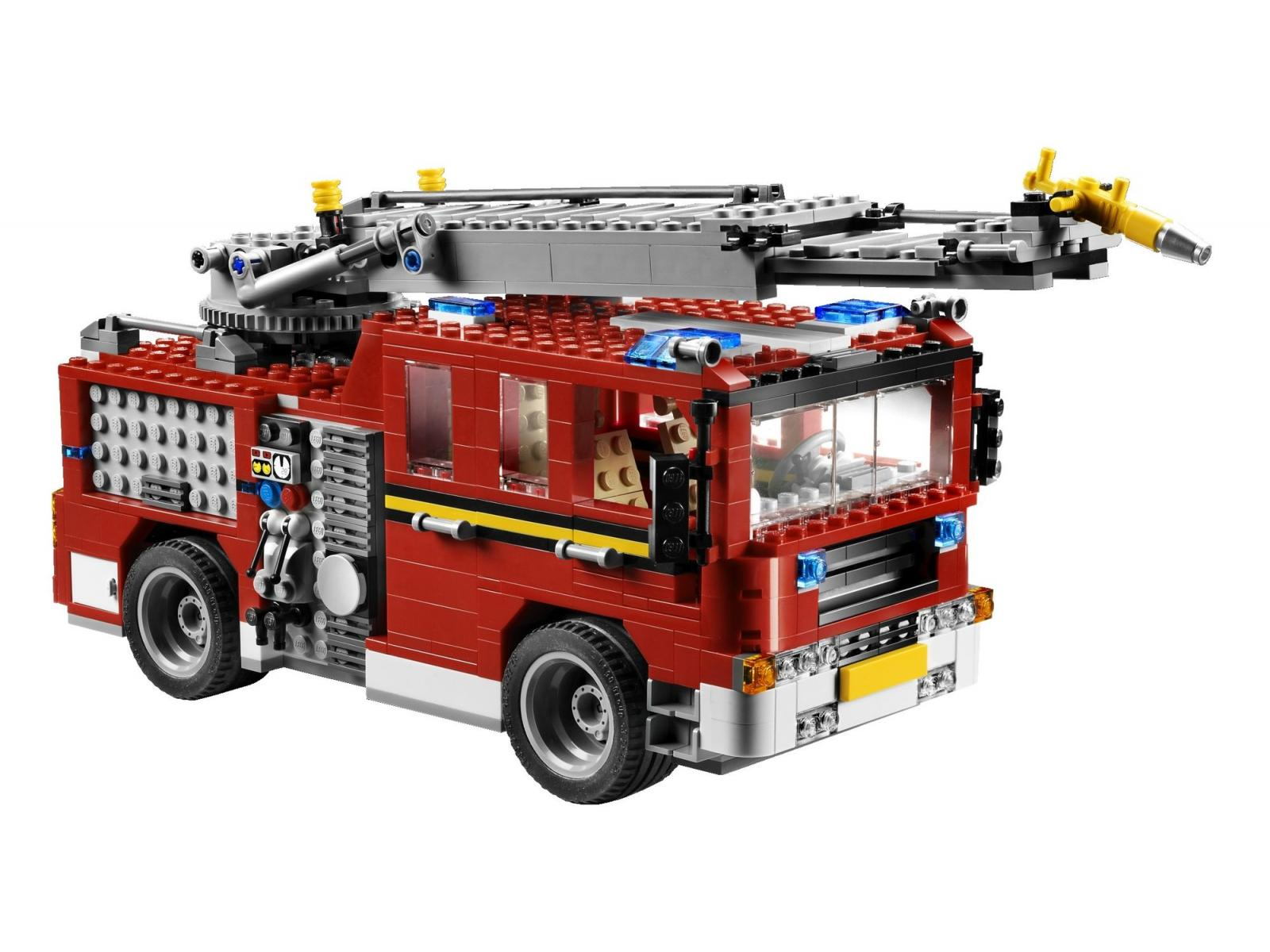 lego le camion des pompiers. Black Bedroom Furniture Sets. Home Design Ideas