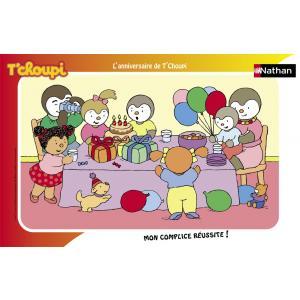 Nathan puzzles - 86003 - Puzzle cadres 15 pièces - Nathan - Le gâteau d'anniversaire de T'choupi (95718)