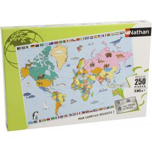 Nathan puzzles - 86935 - Puzzle 250 pièces - Nathan - Carte du monde (95759)