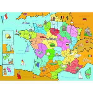 Nathan puzzles - 86933 - Puzzle 250 pièces - Carte de France (95774)