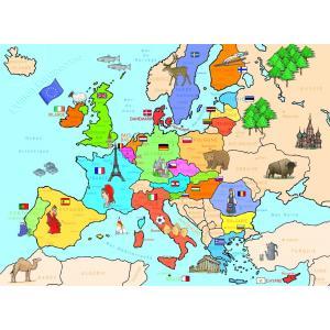 Nathan puzzles - 86934 - Puzzle 250 pièces - Carte d'Europe (95775)