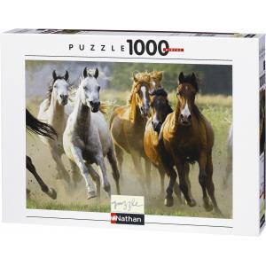 Nathan puzzles - 87561 - Puzzle 1000 pièces - Horde de chevaux sauvages (95804)