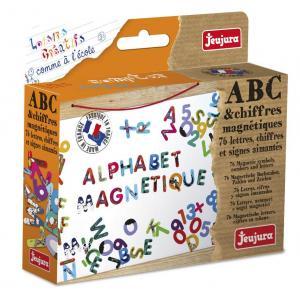 Jeujura - 8970 - Abc et chiffres magnétiques les animaux - coffret de 76 caractères (95828)